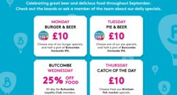 Big deals to celebrate the Butcombe Food & Beer festival throughout September